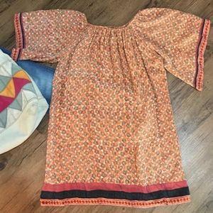 ANTHROPOLOGIE | Silk Boho Festival Tunic Dress
